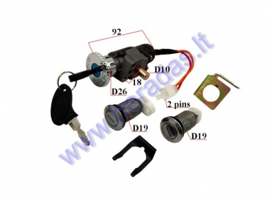 Key switch set for electric trike scooter ST96