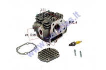 Cylinder head assembly for 110cc ATV quad bike D52.4 With rocker arm valve, camshaft, cover caps