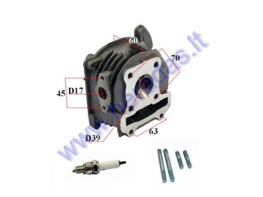 Cylinder head assembly for scooter 50cc 4T GY6 39mm