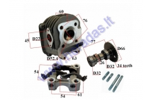 Cylinder head assembly for scooter GY6 125cc D52.4 without cover cap