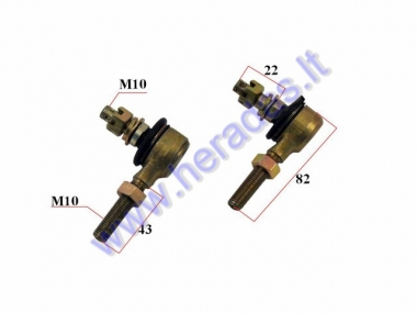 Steering tie rod ball joint for ATV quad bike 110-200cc M10 set left+right side thread