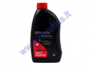 Motor oil for 4-stroke scooter engines DYNAMAX MOTOFORCE 4T SUPER SCOOTER 10W40 1 litre JASO MA