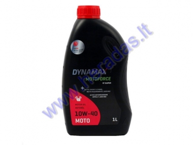Motor oil for 4-stroke scooter engines DYNAMAX MOTOFORCE 4T SUPER 10W40 1 litre JASO MA2