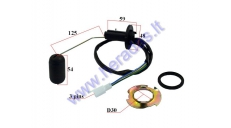 Fuel level sensor for scooter (inside fuel tank)