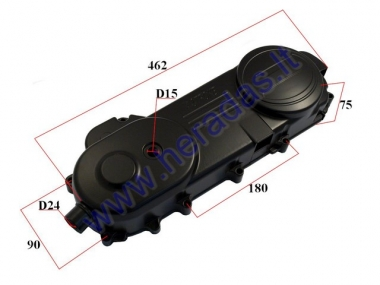 Left side engine cover for scooter 4T 50cc  460mm 788 drive belt 12/13