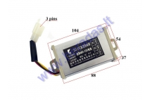 Voltage converter regulator for electric scooter 48V/12V