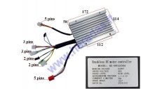 Controller for electric trike scooter 48V 500W ST96 RX-48V12G30A 120 degrees