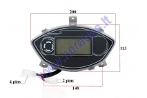 Dashboard, speedometer for electric bicycle ST96