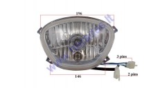 Headlight for electric trike scooter ST96
