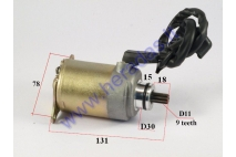 Starter motor 9 tooth D11 for quad bike, scooter GY6 125-150cc