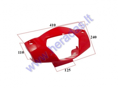 Plastic headlight-dashboard front cover for electric trike scooter MS01 MS03