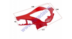 Plastic headlight-dashboard front cover for electric trike scooter MS04