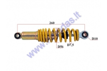 Shock absorber for electric trike scooter MS03 MS04 L260 spring diameter 7.5