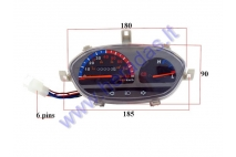 Dashboard with speedometer for electric trike scooter MS04