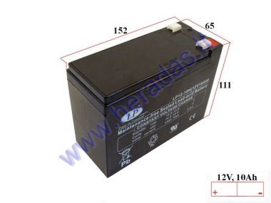 Battery for electric bicycle 12V 10Ah