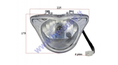 Center headlight for electric trike scooter MS04