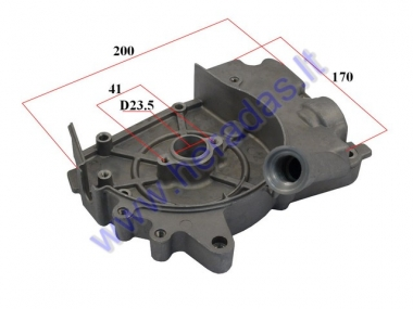 Crankcase cover for scooter 4T with oil pour hole