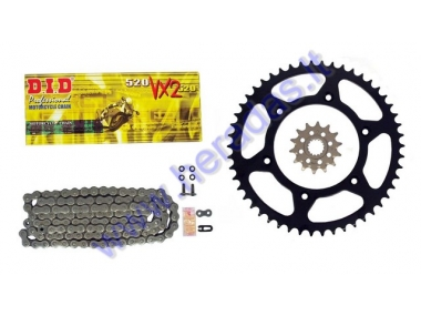 Chain and sprocket set KTM 525, 530 EXC Enduro Racing