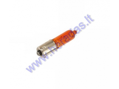 Light bulb for scooter H6W 12V/6W orange BAX9S - socket