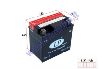 Motorcycle battery 12V 4Ah YTX5L-BS