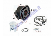 Cylinder piston set for scooter 2T  D40 LC 50cc  Piaggio,GileraRunner,NRG,NTT
