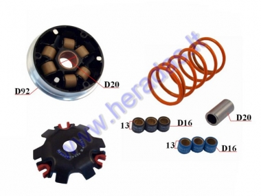 Variator for 50cc scooter sports 6.5g with spring Honda Dio