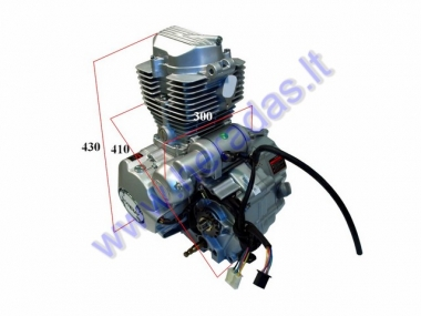 Engine for quad bike 150cc 4 gears + reverse air-cooled electric starter