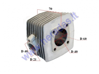 Cylinder for 50cc motorized bicycle 2-stroke D40