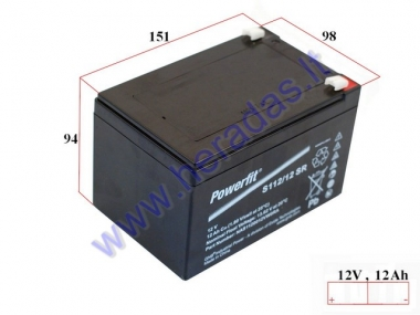 Battery for electric bicycle 12V 12AH