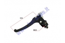 Brake lever for motorized bicycle