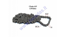 Chain for 50-80cc motorcycle-moped roller7,9 L130 DID Japan chain type 415