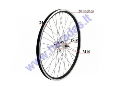Front wheel for electric bicycle Electron EB18