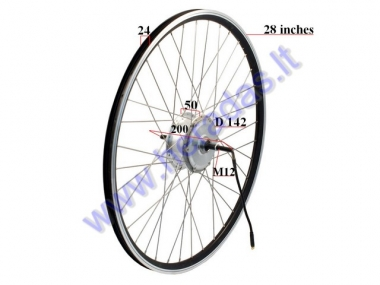 Rear wheel with motor for electric bicycle 36V 250W  Electron  EB21