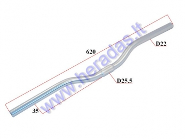 Aluminium handlebars for electric bicycle Electron EB18