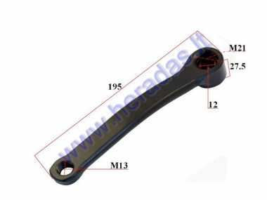 Steel crank arm for electric bicycle Electron EB18