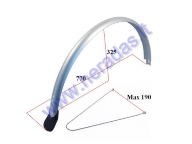 Rear mudguard for electric bicycle Electron EB21