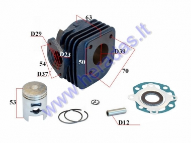 Cylinder piston set for scooter D39 50cc Kymco 2T RMS BLUE LINE