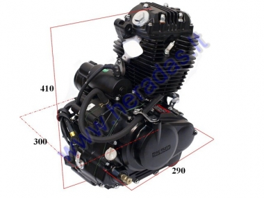 Motorcycle engine 150cc  5 gears  + N air-cooled, electric starter. Manufacturer SHINERAY