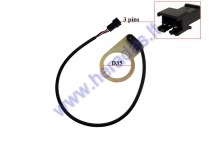 Power pedal assist sensor for electric bicycle