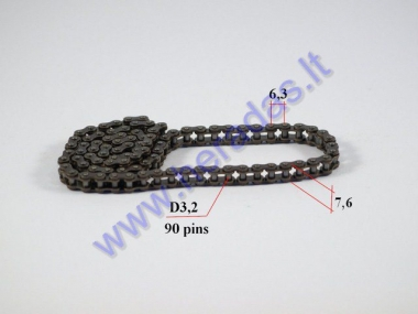 Timing chain for motorcycle 90 links