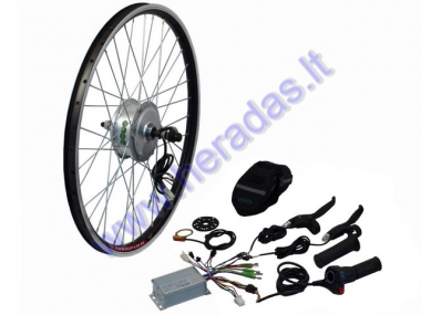 Conversion kit to electric bicycle 250W 36V,motor,controller,handles. Rear wheel with motor 26 inches (26inches) X 1.95