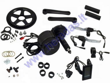 Conversion kit to electric bicycle, crankset motor 750 WAT 48V Crankset fixture width 100 mm