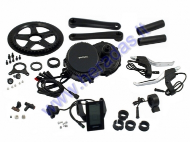 Conversion kit to electric bicycle, crankset motor 750 WAT 48V Crankset fixture width 68mm