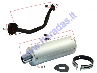 Muffler for scooter GY6 50cc