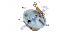 Drum brake cover set with brake pads for trike scooter MS04