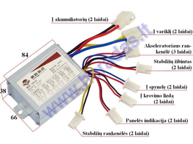 Controller for electric quad bike 48V 500W