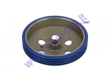 Clutch drum for scooter RACING 107mm 22 teeth D12