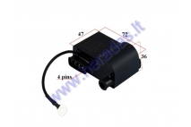Ignition coil with CDI controller for scooter AM6 ,Aprilia, MBK, Yamaha, Malaguti 4 pin