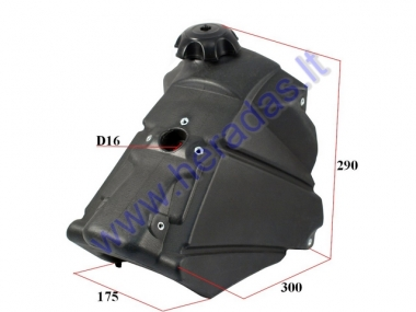 Universal fuel tank for motorcycle