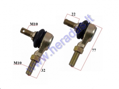 Steering tie rod ball joint for ATV quad bike 110-200cc M10 L20 set left+right side thread